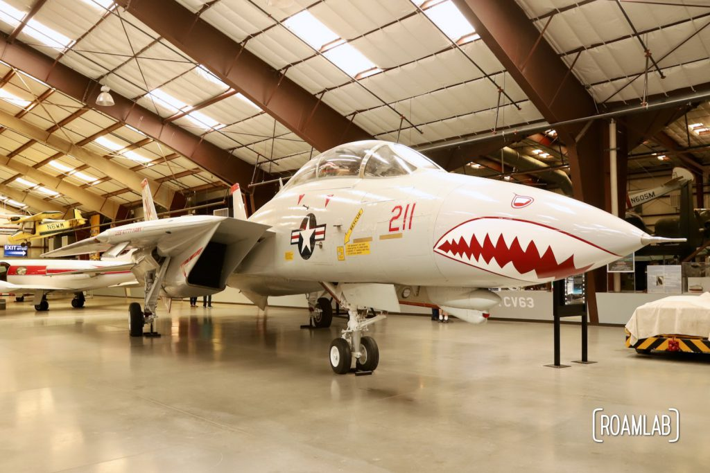 Classic nose art painted on a fighter jet at Pima Air & Space Museum