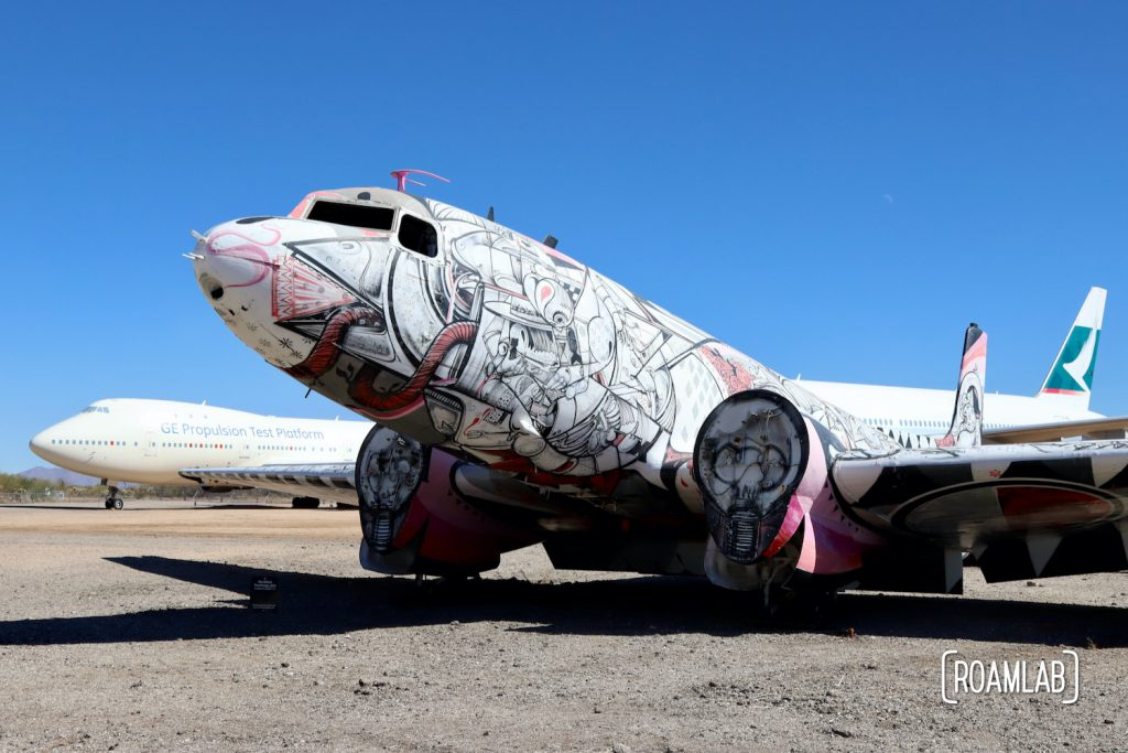 Art painted across a plane at the Pima Air & Space Museum.