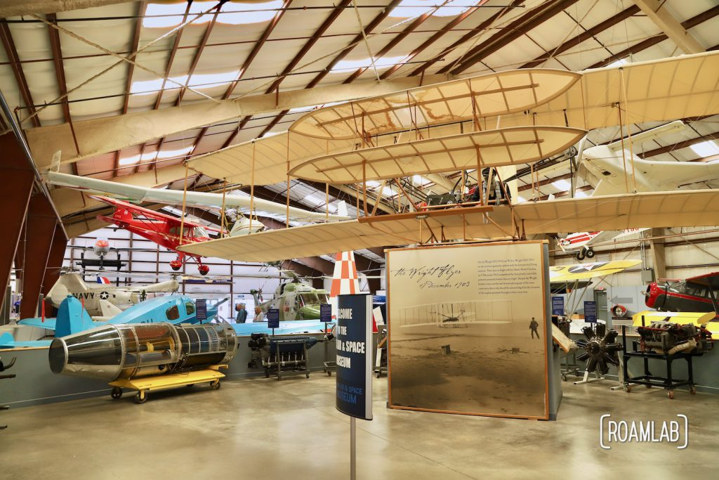 Entry display for the Pima Air & Space Museum.