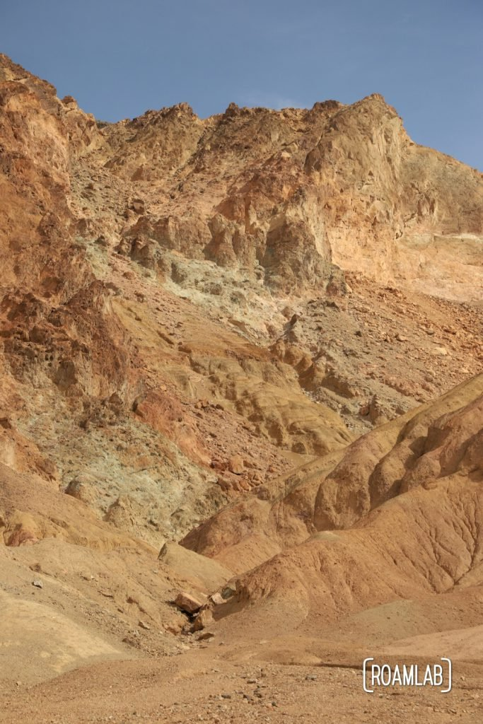 Colorful cliffs along Artist's Road in Death Valley National Park.