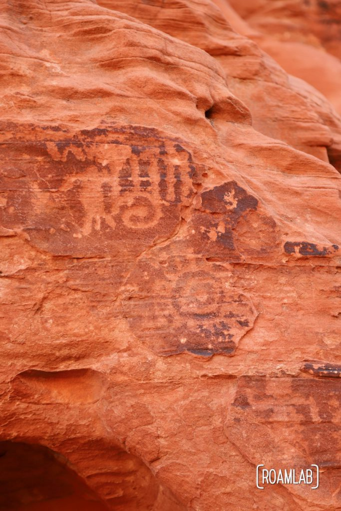Petroglyphs along Mouse Tank Trail in Nevada's Valley of Fire State Park.