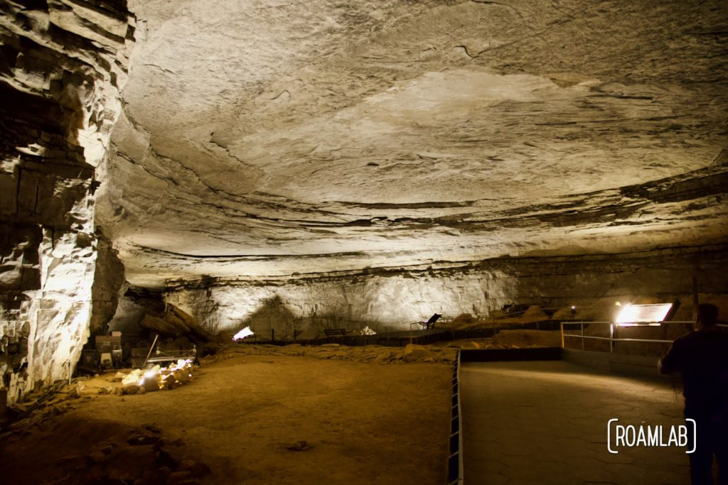 View of the Rotunda Room in Mammoth Cave National Park.