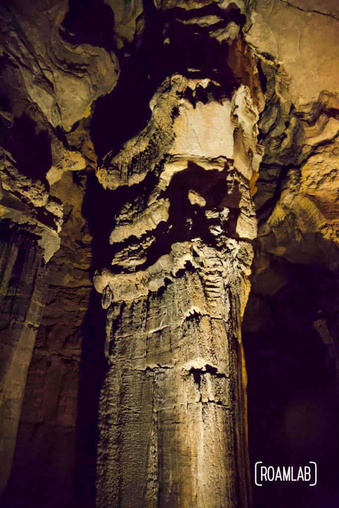 Pillar head at the Ruins of Karnak along the Geology Tour in Mammoth Cave National Park.
