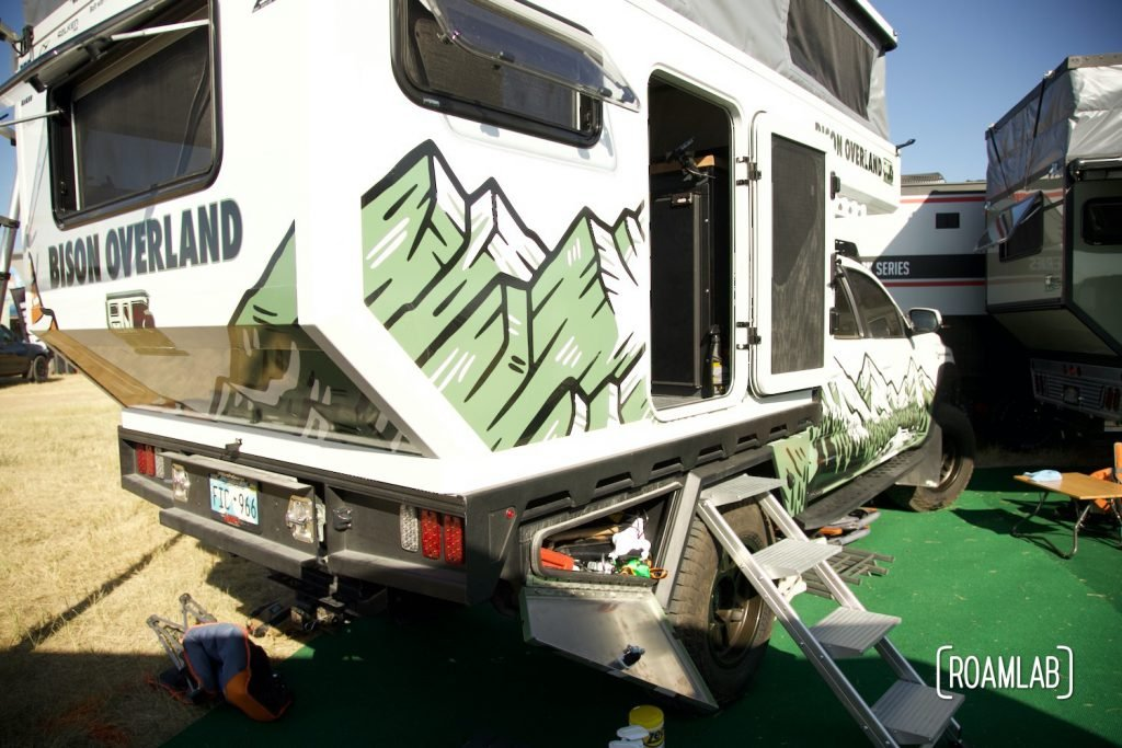 Bison Overland truck camper on display at Overland Expo Mountain West.