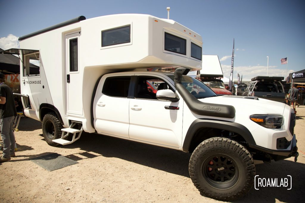 White TruckHouse BCT on display at Overland Expo Mountain West.